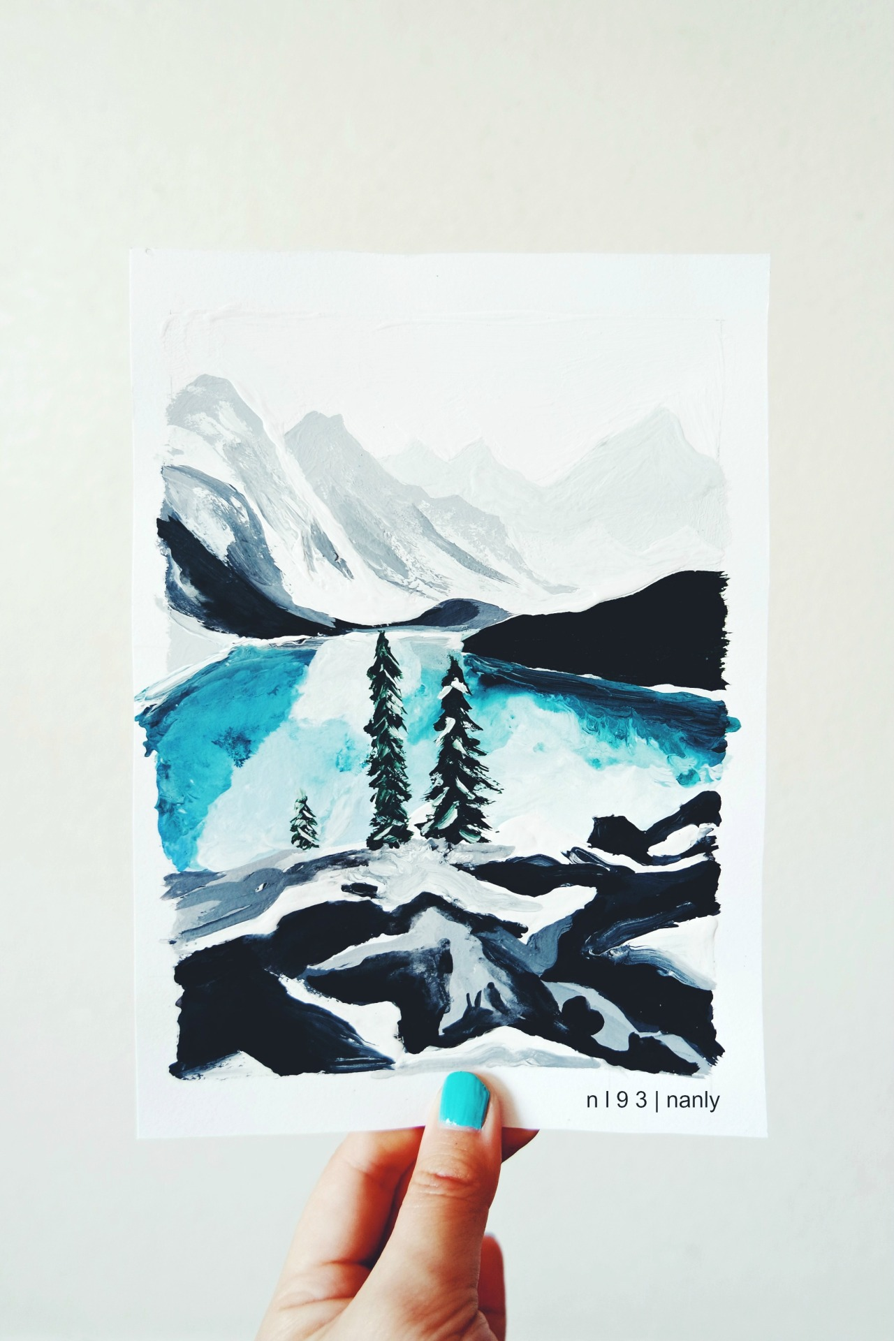 snow beauty winter Illustration art mine life landscape ...