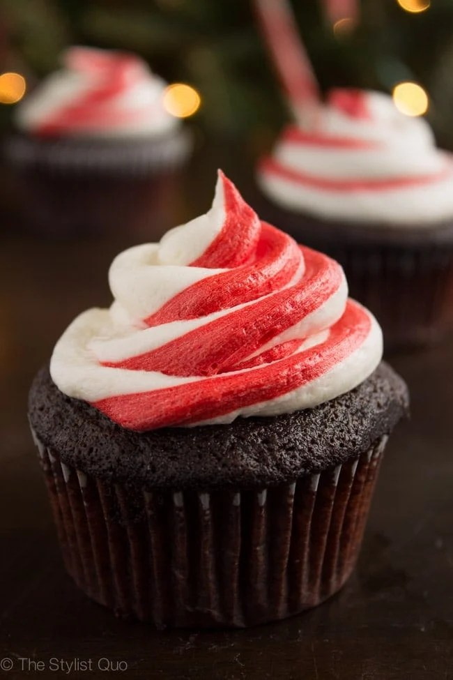 Chocolate Cupcakes With Peppermint Frosting Vegan 40