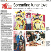 RM1mil to charity for CNY Spreading lunar love Lottery donates close