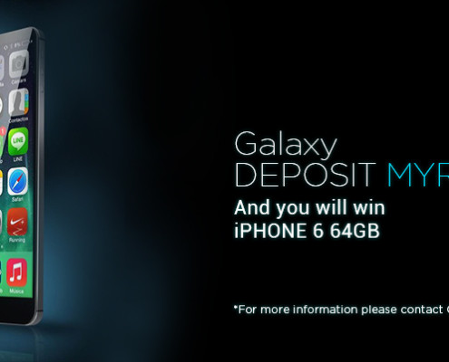 Galaxy Casino DEPOSIT MYR 666 iPHONE 6 64GB