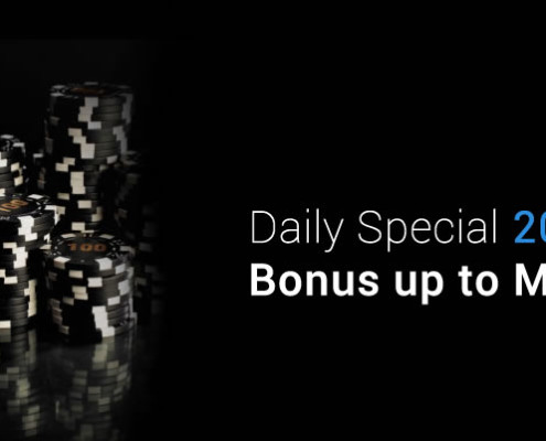 Galaxy Casino Daily Special 20% Deposit Bonus up to MYR 888