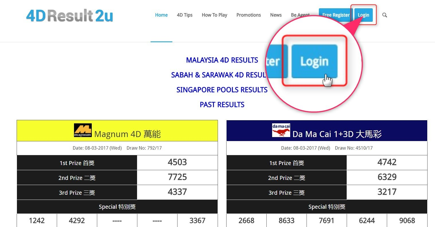 4D Result Malaysia Withdrawal Your Prize Tutorial - 4D