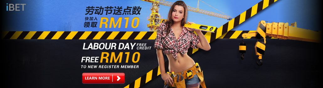 iBET Free Credit RM10 for New Member by 4D Result