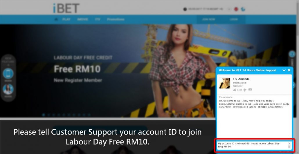 iBET Teach You How To Get Labour Day Free RM10 in 4D step10