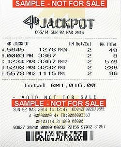 4D Result Malaysia - 4D Permutation with Big Bet