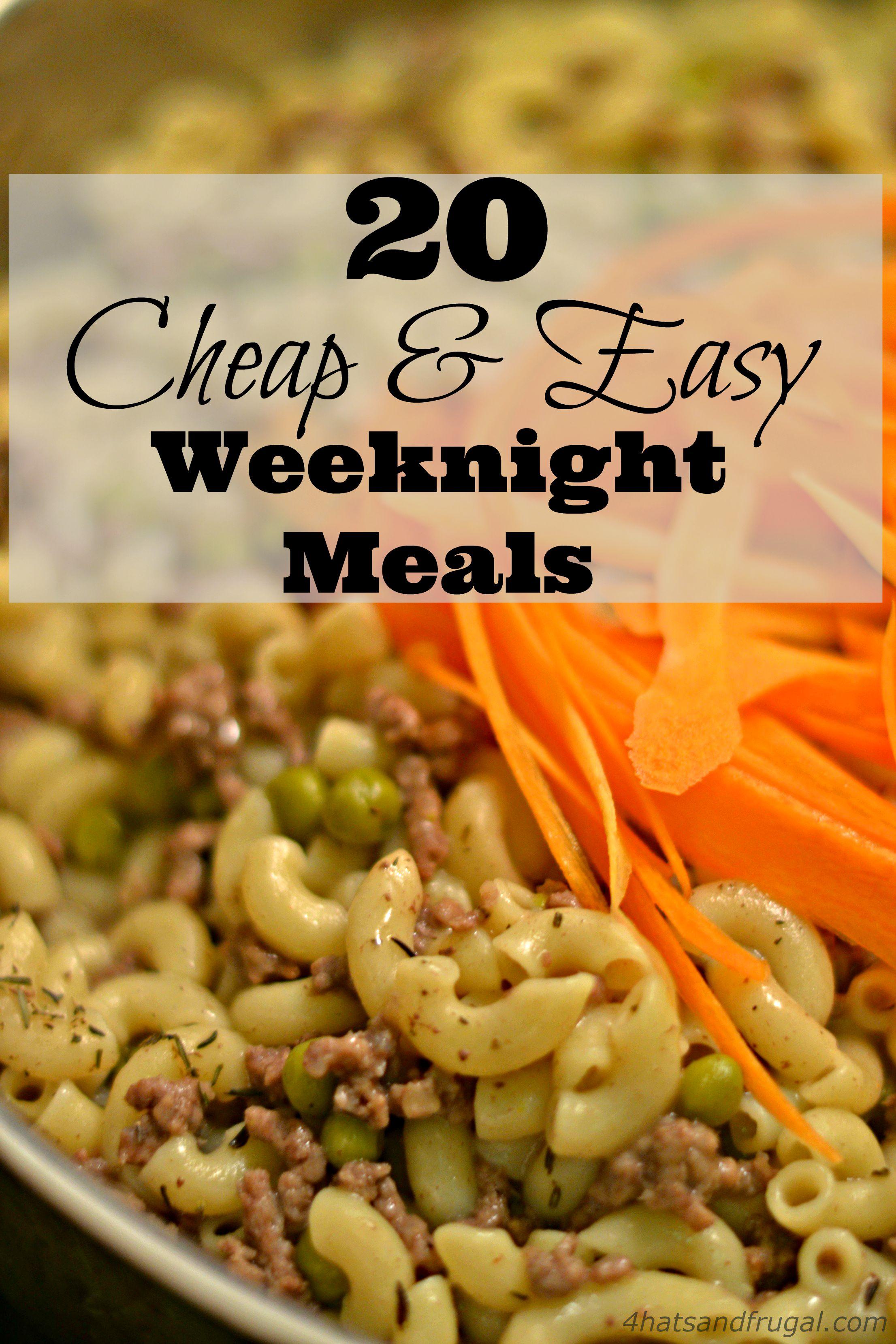 Quick Cheap Meals Dinner