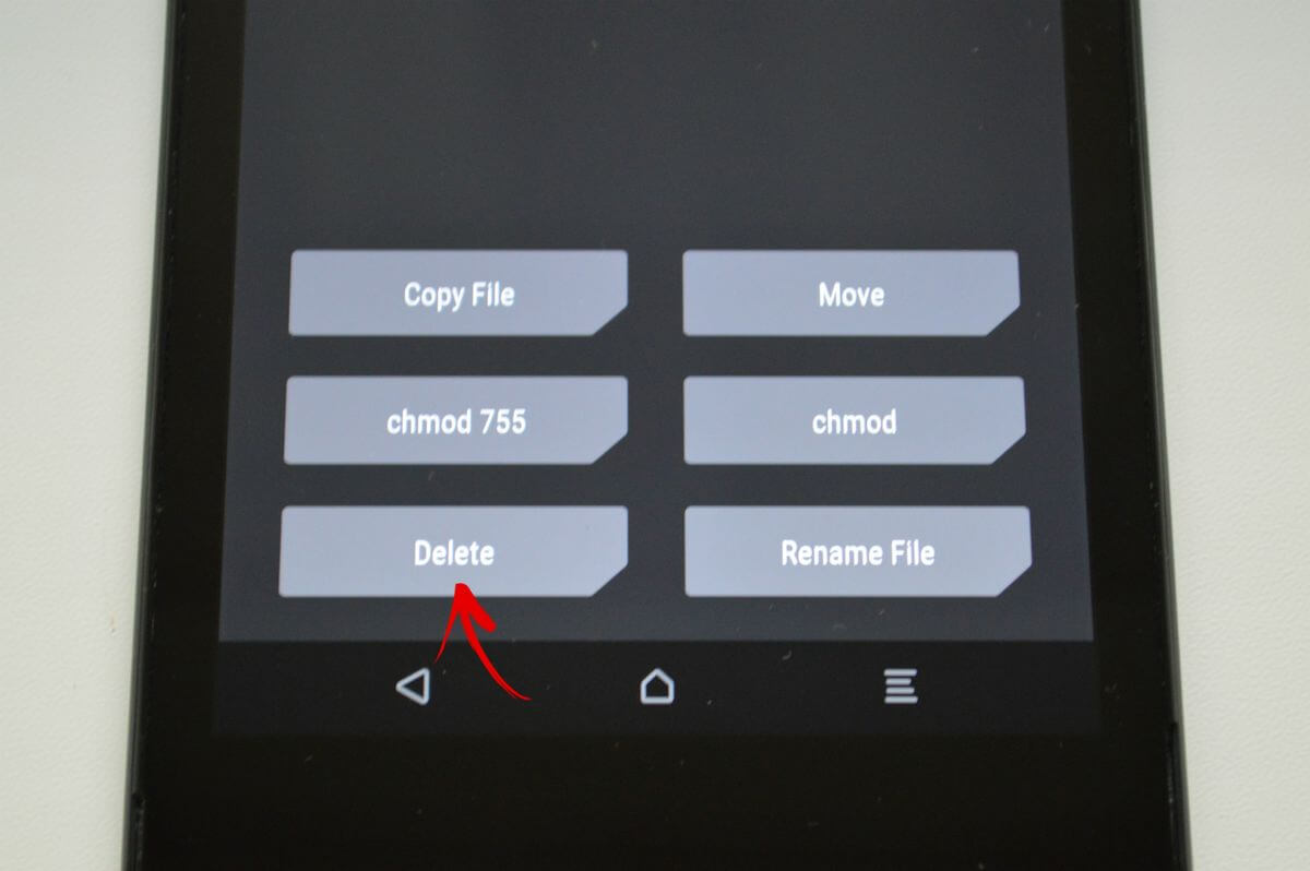 Hapus LockSettings di Manajer File TwRp