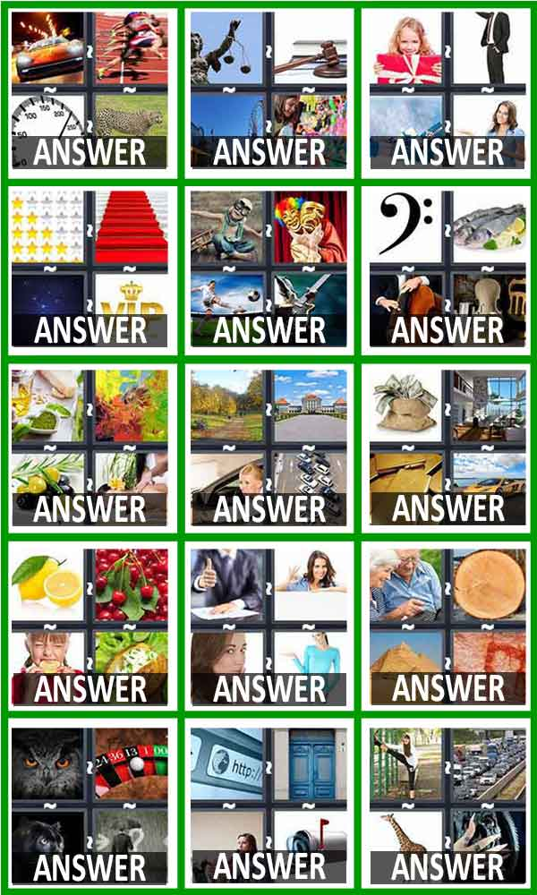 4 Pics One Word Answers