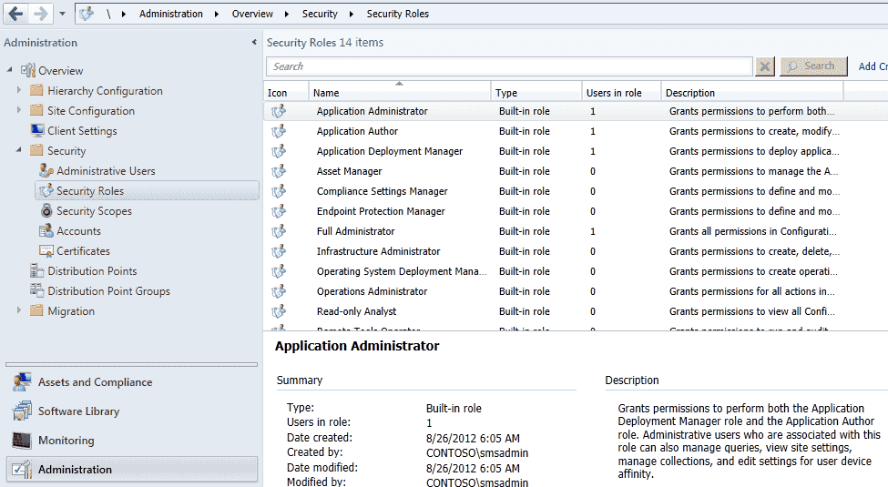 Application Security Settings