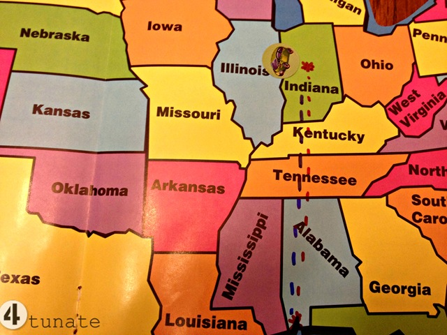 Road Trip Map for Kids   4tunate how to make a road trip map for kids