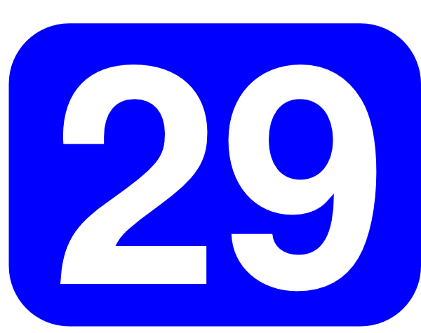 Blue Rounded Rectangle With Number 29 clip art Free Vector ...