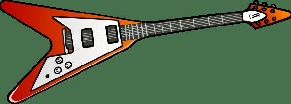 Flying V Guitar Drawing