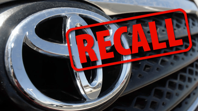 Toyota Recalls 1 67 Million Vehicles For 3 Separate Issues