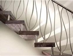 Modern Style Staircase Steel Railing Design | Modern Style Stair Railing | Handrail | Art Deco | Rustic Farmhouse | Decorative | Unique Fancy Stair