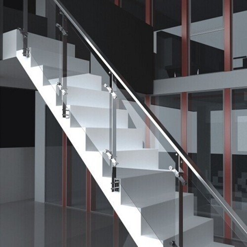 Panel Glass Stainless Steel Railing Rs 350 Square Feet Solar   Glass And Stainless Steel Stair Railing   Custom Glass   Architectural Glass   Balcony   Modern   Metal Glass
