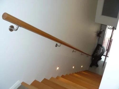 Stair Handrail Wall Mounted – Paulbabbitt Com | Wall Mounted Stair Railing | Exterior | Natural Wood | Interior | Wall Mount Window | Oak