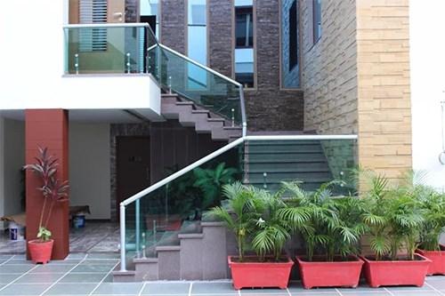 Stair Glass Railing Designer Duplex Staircase With Glass Railing   Staircase Design For Duplex   Living Room   Villa   Indian   Modern   Flat