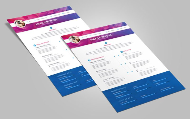 50 Free Creative CV Resume Design Templates For All Professionals Free Professional Resume  CV  Design Template For
