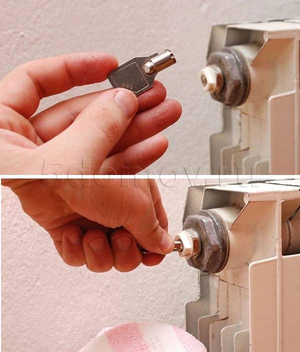 Ключ для радиатора | Как спустить воздух из радиатора отопления