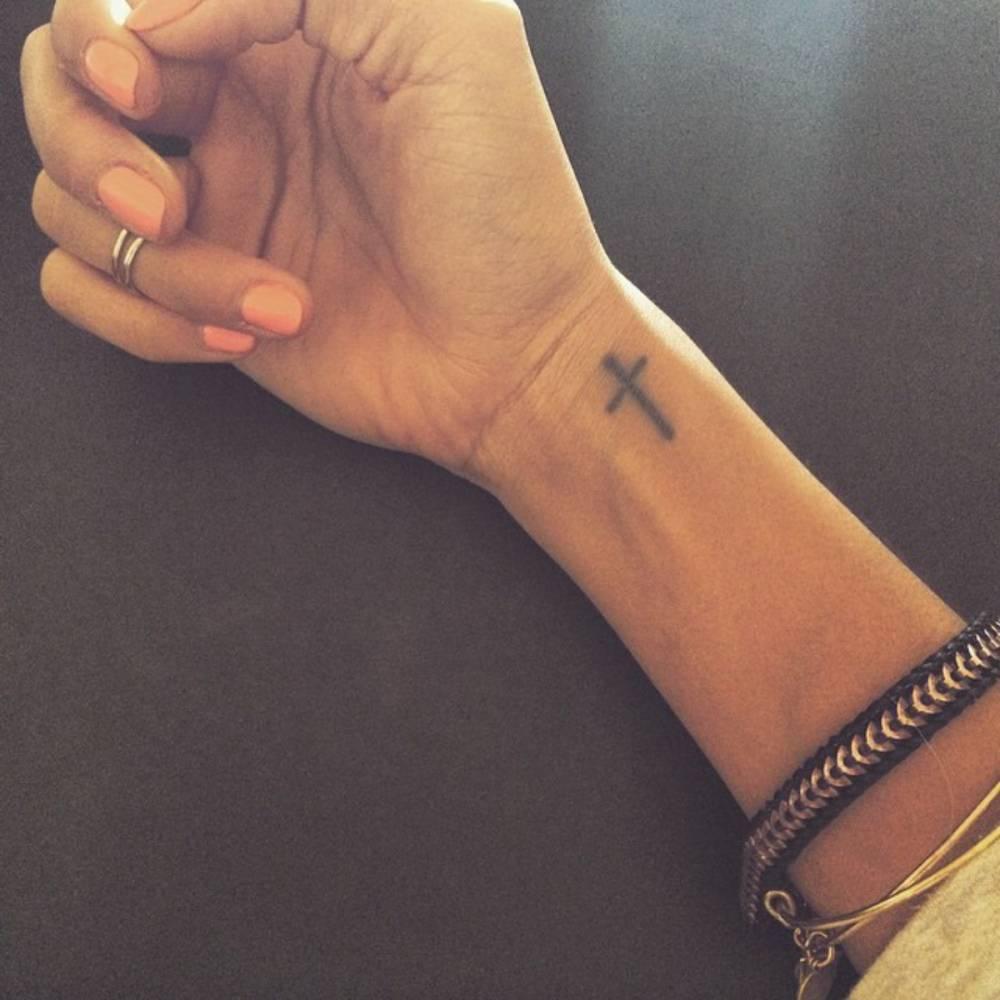 Cross Finger Tattoo Designs
