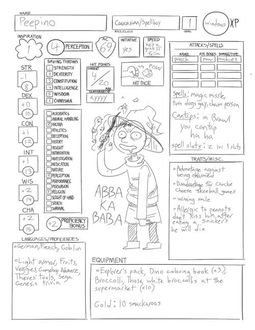 Alternate Character Dnd 5e Sheet