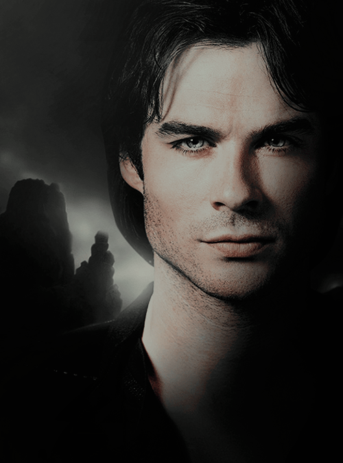 And White And Damon Stefan Tumblr Black