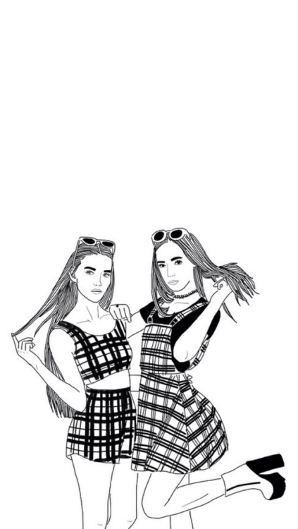 outlines girls | Tumblr