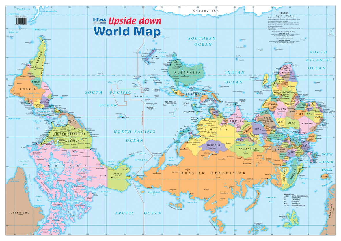 A change of perspective is worth more than 80 IQ-points. - This map (click to enlarge) of the world is just as valid as the map you are used to. North being at the top is of course completely arbitrary. Just like driving on the right side in most of...