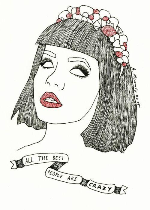 Short Hair Tumblr Girl Drawing Tattoo