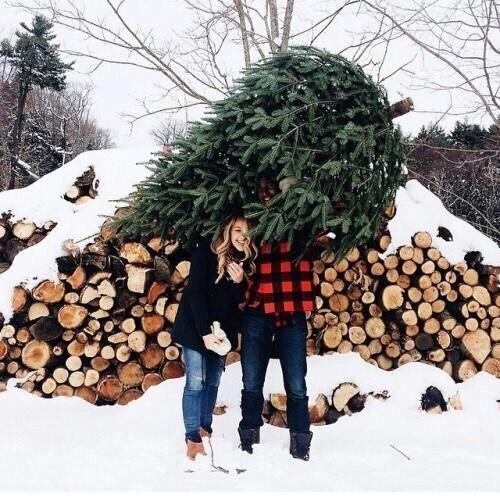 winter couple on Tumblr