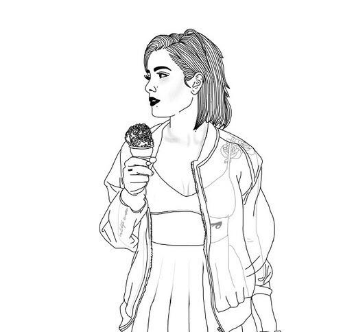 Tumblr Girl Drawing Short Hair