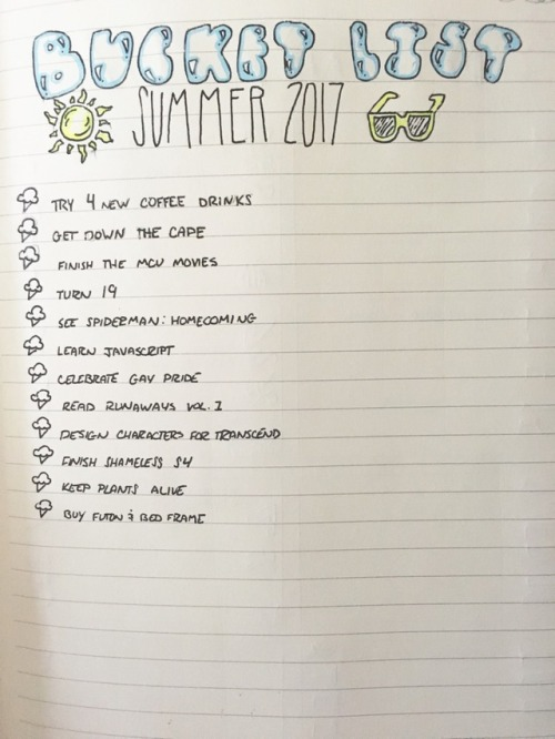 Summer Bucket List Tumblr