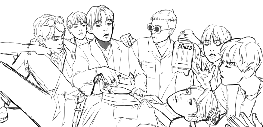 Army Bts Coloring Book Pages