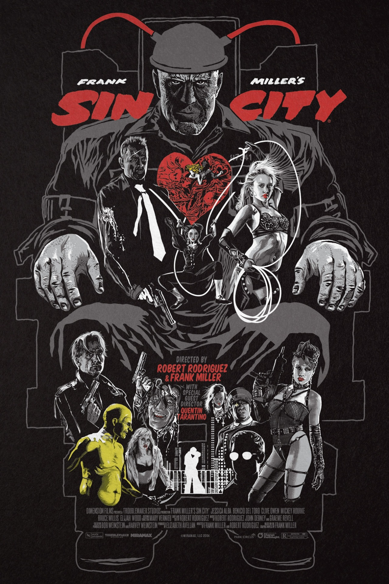 Sin City By Christopher Cox 24 Quot X 36 Quot Screen Xombiedirge