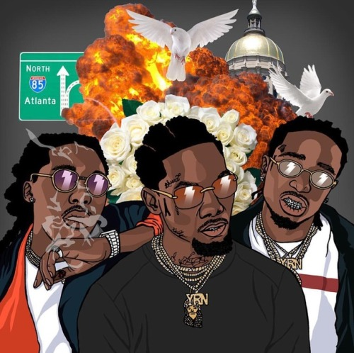 Characters Rappers Migos Cartoon