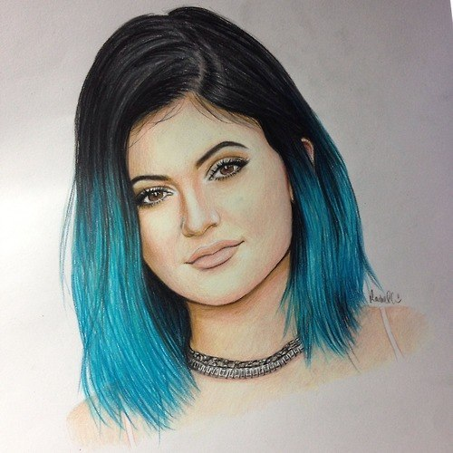 Outline Drawing Tumblr Girl Hair