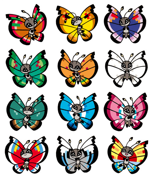 Vivillon Patterns Pokemon Magnificent Vivillon Patterns