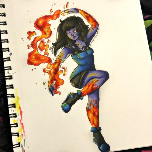 Obsidian Steven Universe Drawing