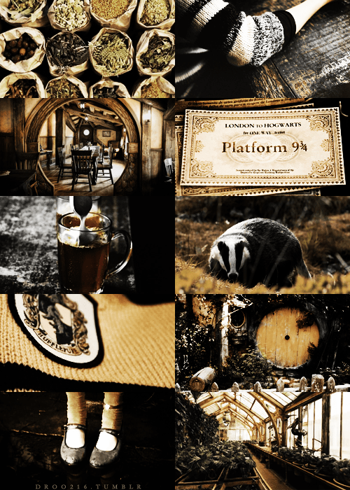 Colage Slytherin And Hufflepuff