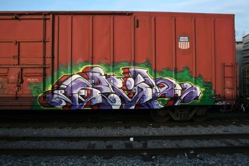 Riders Train America Graffiti Freight
