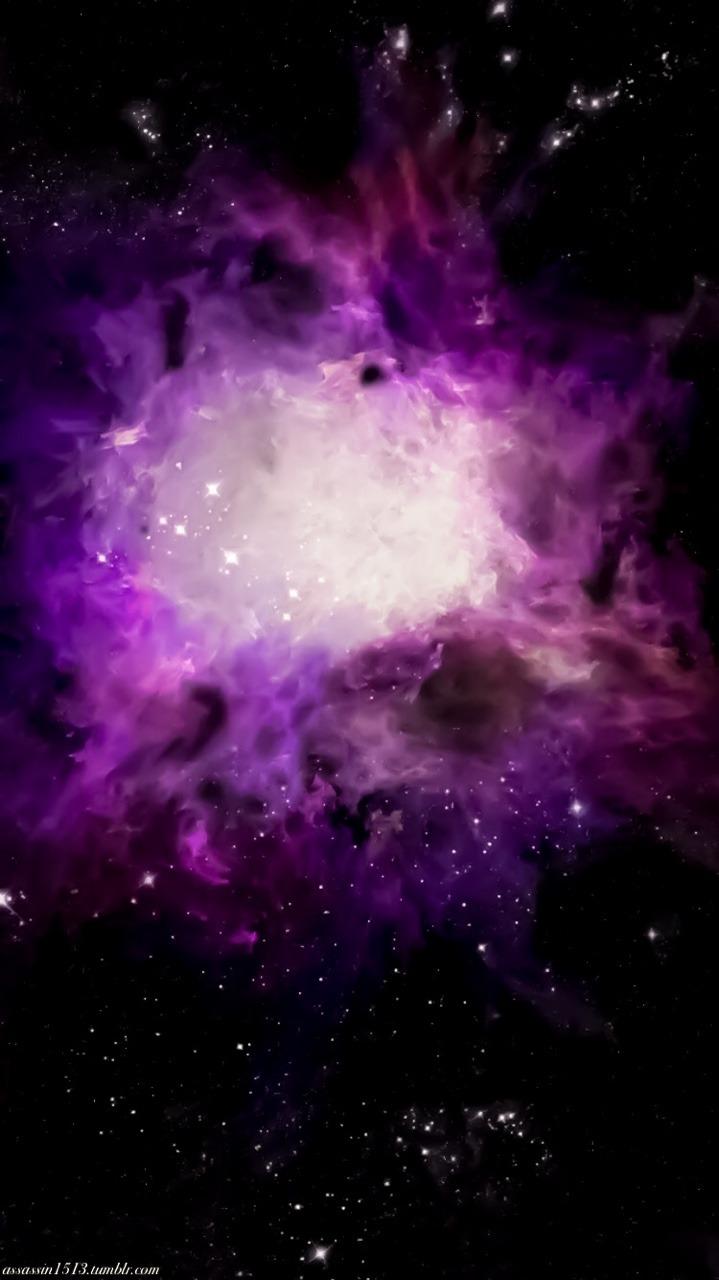 purple galaxy aesthetic - 719×1280