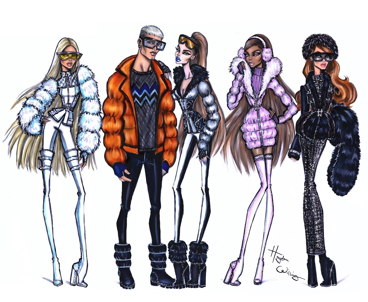 Hayden Williams Fashion Illustrations | Winter Vibes by ...