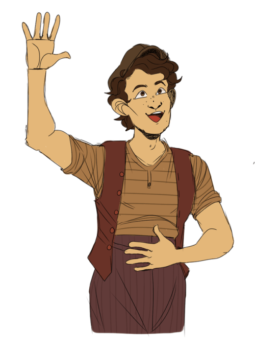 Newsies Crutchie Broadway Fan Art