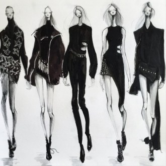 fashion croquis    Tumblr Sketching Anthony Vaccarello AW15