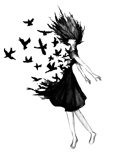 girl drawing on Tumblr