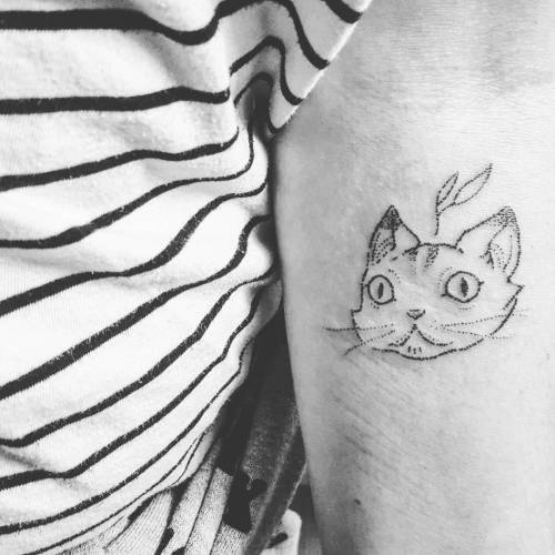 Cat Stick N Poke Tattoo