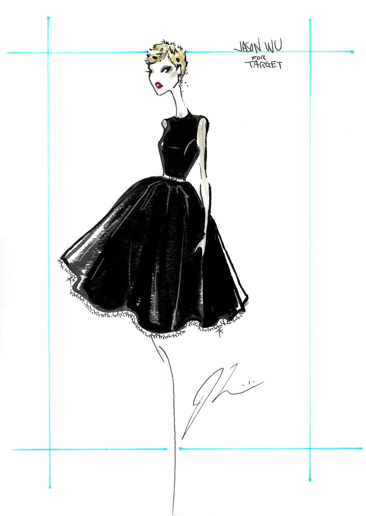 Jason Wu fashion sketches Jason Wu s Website       Fashionary Hand     Jason Wu fashion sketches