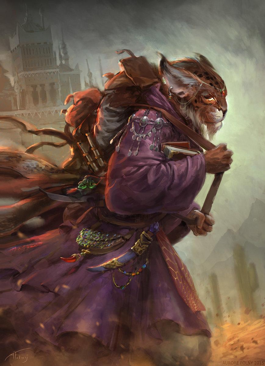 Warlock Art Female Tabaxi