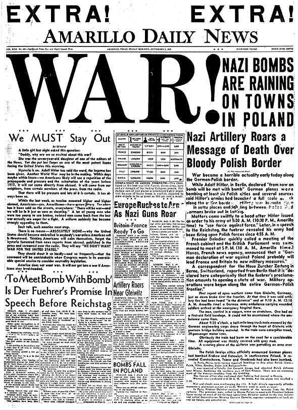 Newspaper Articles Ww2