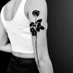 ad3a641ee9a75 Solid Black Flower Tatto | Gardening: Flower and Vegetables